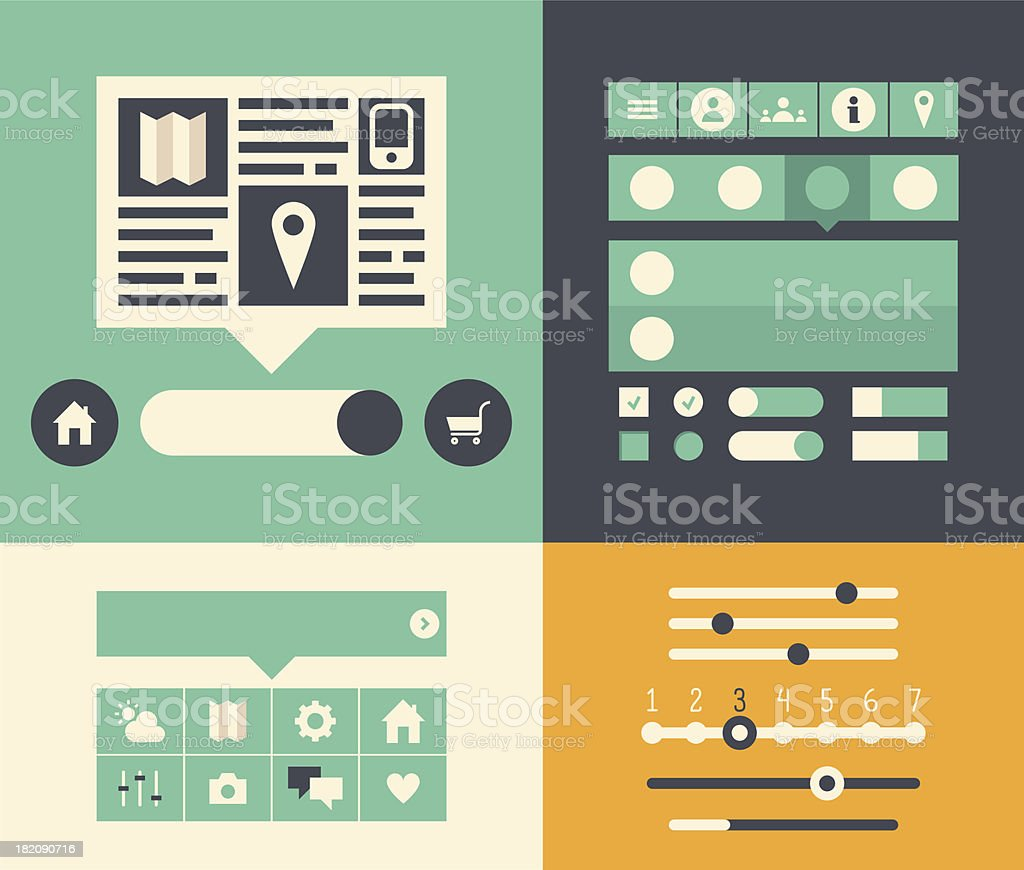 Website user interface elements royalty-free stock vector art