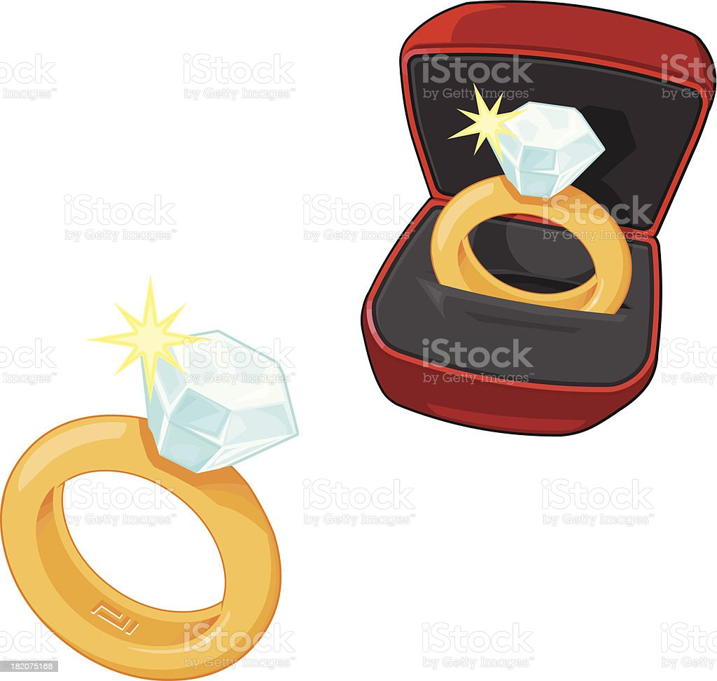 Wedding and Engagement Ring Icons royalty-free stock vector art