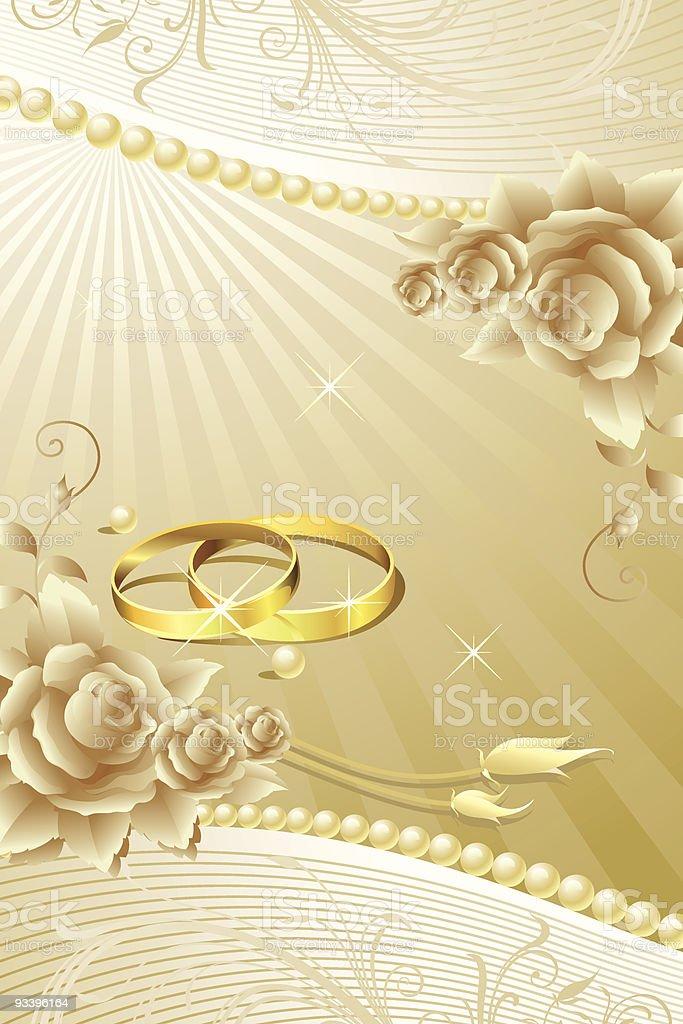 Wedding Background vector art illustration