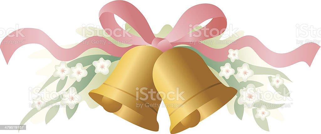 Wedding bells royalty-free stock vector art