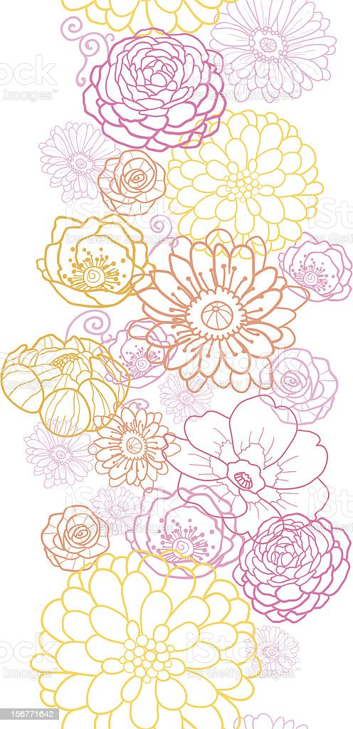 Wedding Bouquet Floral Seamless Vertical Ornament royalty-free stock vector art