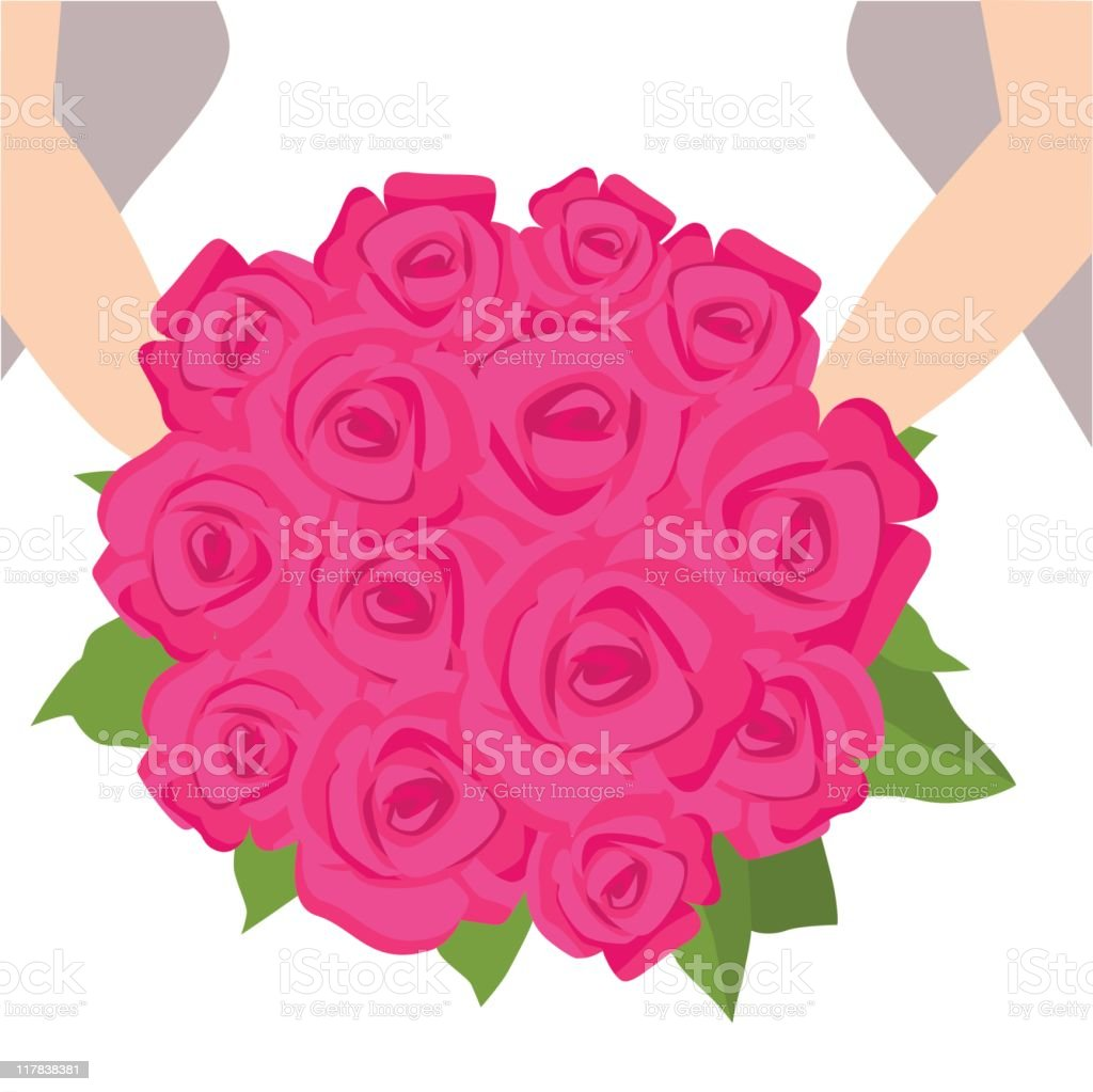 Wedding Bouquet royalty-free stock vector art