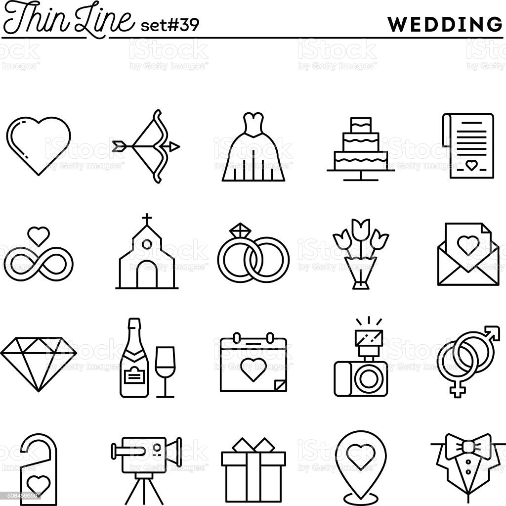 Wedding, bridal dress, event invitation, celebration party and more vector art illustration