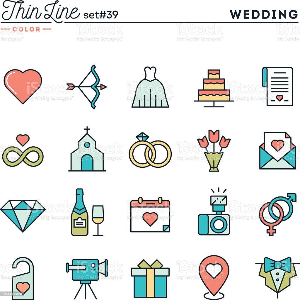 Wedding, bridal dress, event invitation, celebration party and more vector art illustration