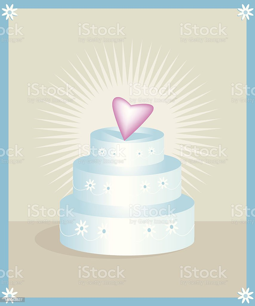 Wedding Cake Design royalty-free stock vector art