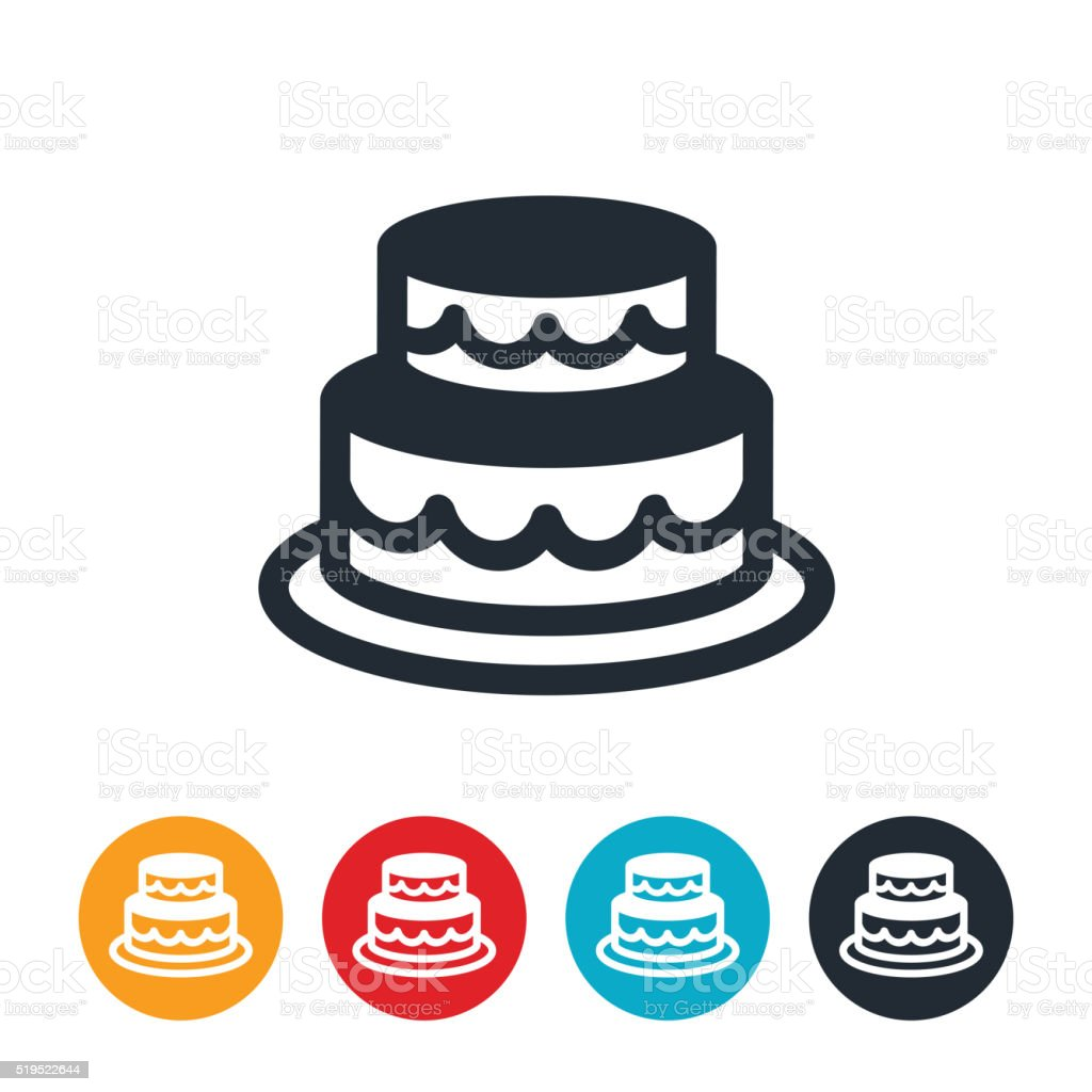 Wedding Cake Icon vector art illustration