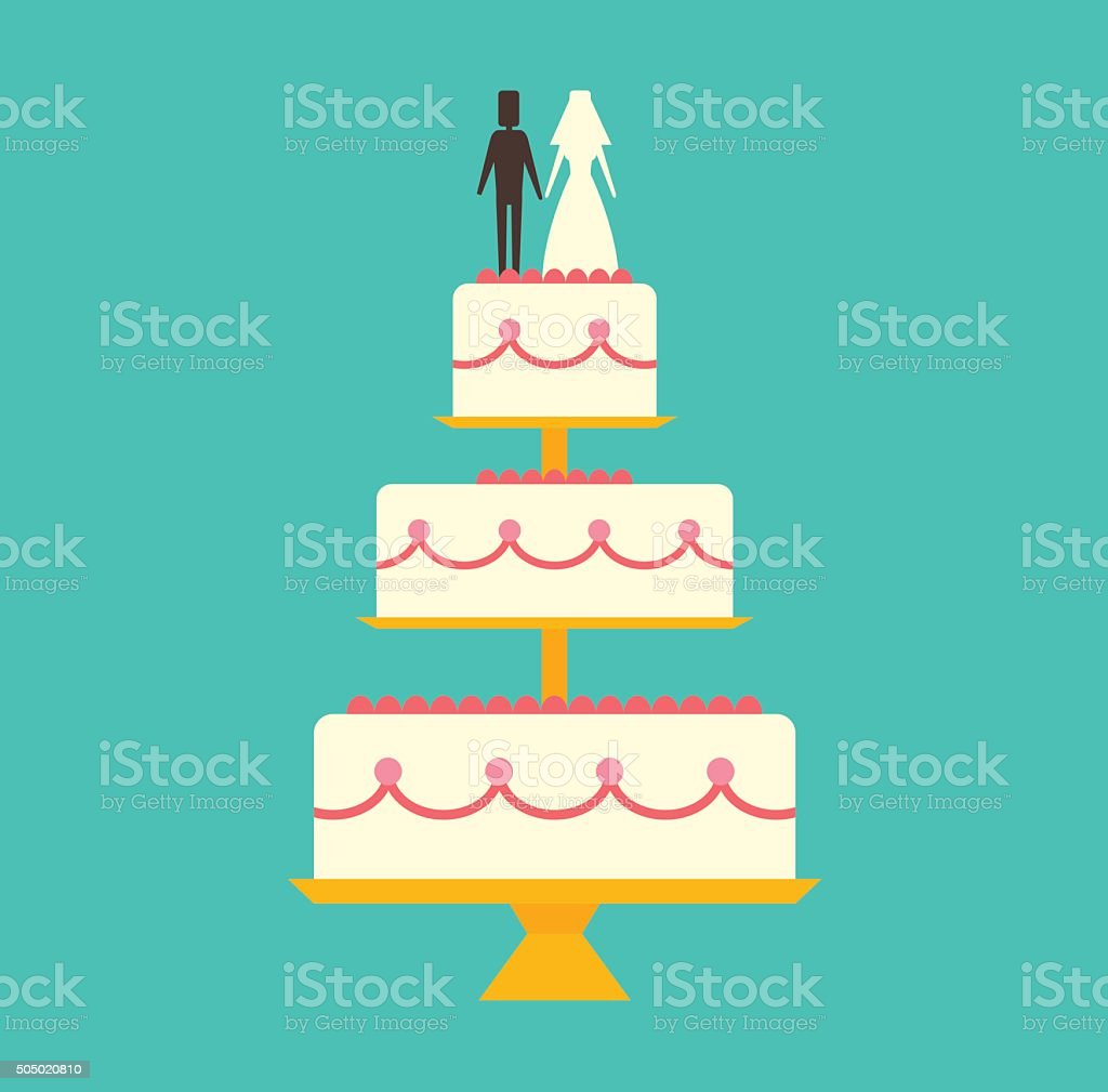 Wedding cake Isolated on background vector illustration vector art illustration