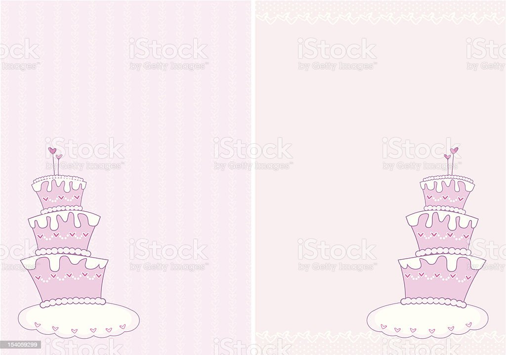 wedding cake royalty-free stock vector art