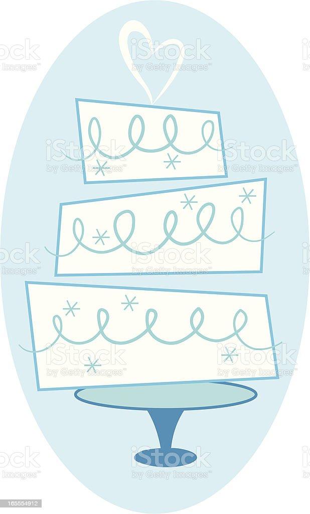 Wedding Cake royalty-free stock vector art
