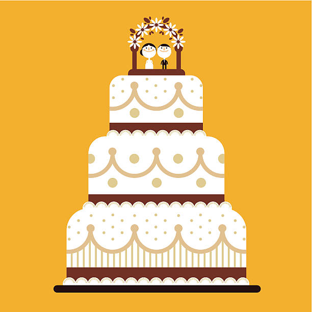 Decorative Wedding Cakes Clip Art, Vector Images & Illustrations ...