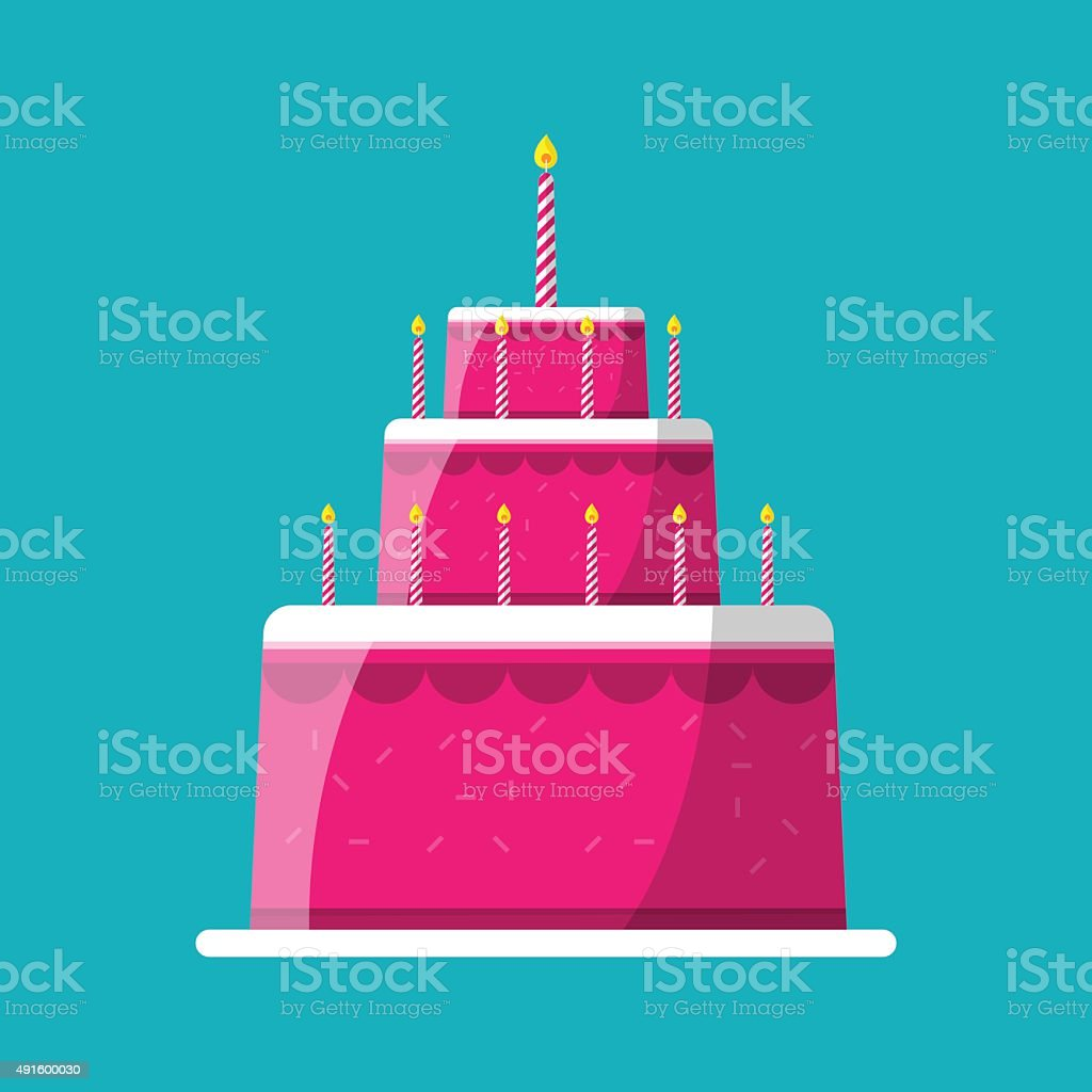 Wedding cake vector art illustration
