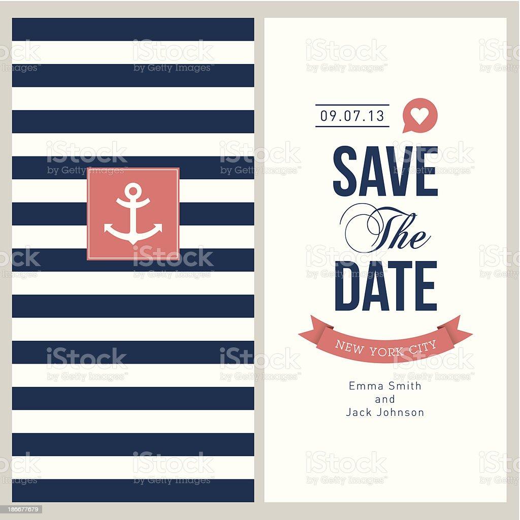 wedding card invitation vector art illustration