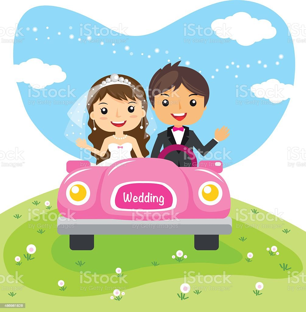 wedding cartoon character design royalty-free stock vector art