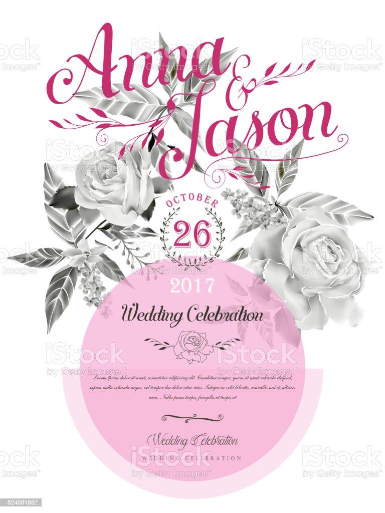 wedding celebration poster vector art illustration