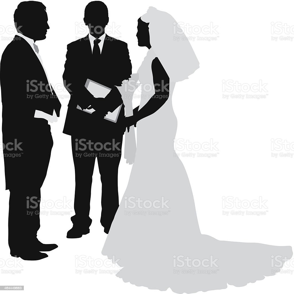 Wedding ceremony royalty-free stock vector art
