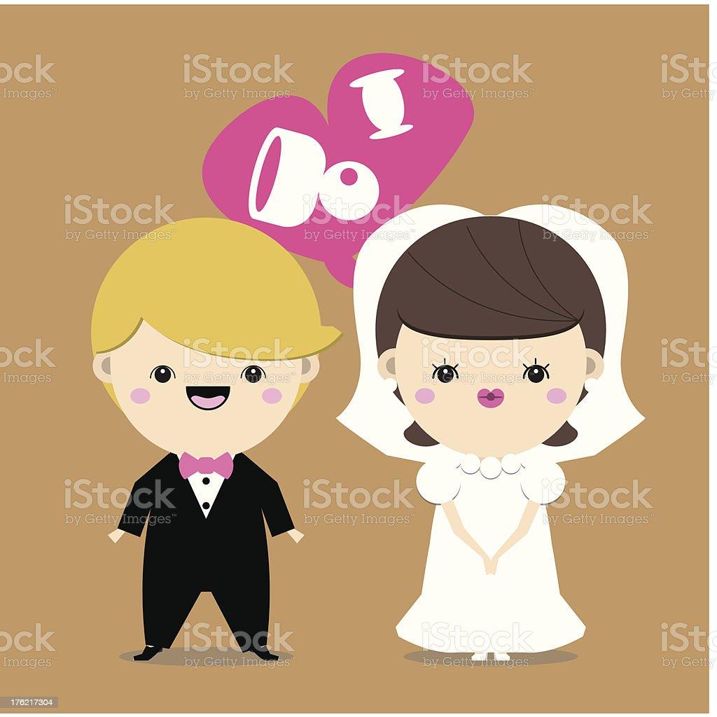 Wedding couple. royalty-free stock vector art