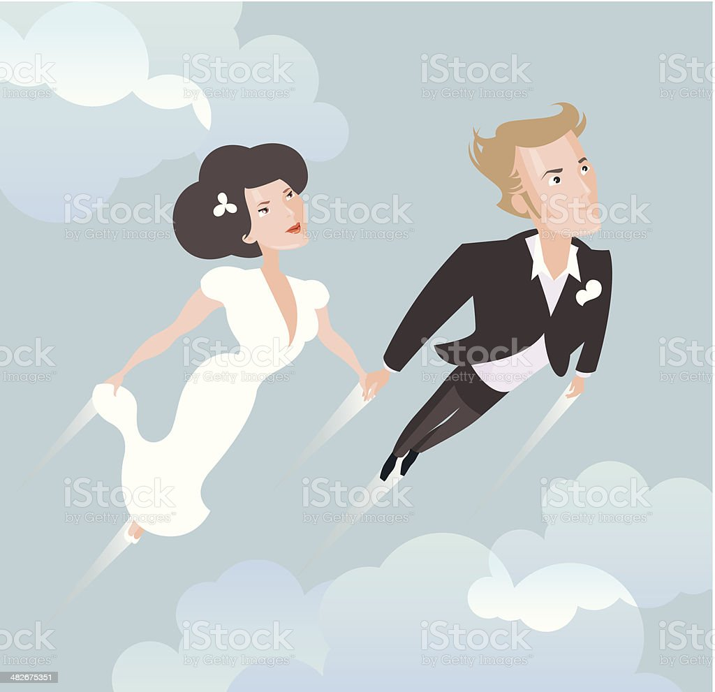 Wedding couple. royalty-free stock vector art
