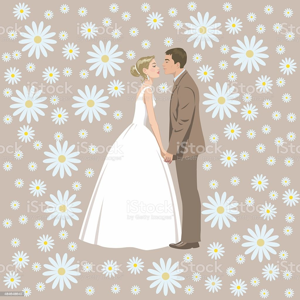Wedding couple royalty-free stock vector art