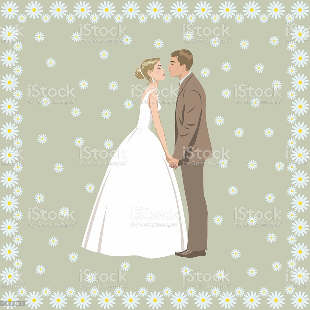 Wedding couple royalty-free stock vector art