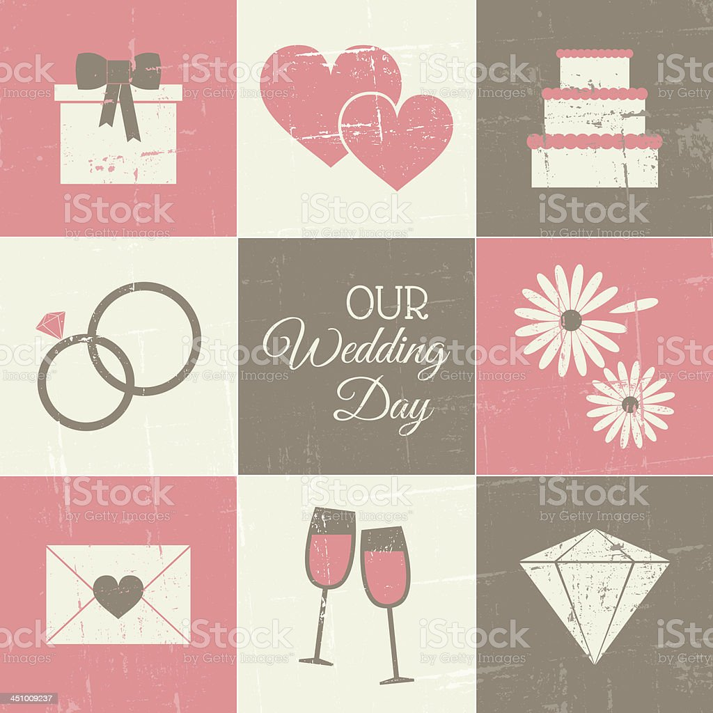 Wedding Day Collection royalty-free stock vector art