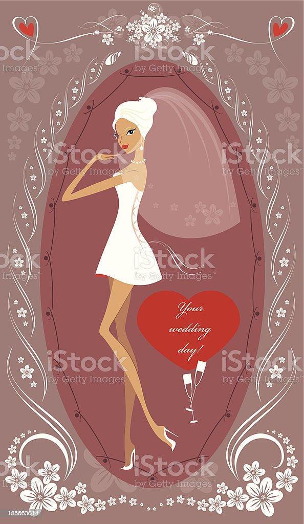 wedding day royalty-free stock vector art