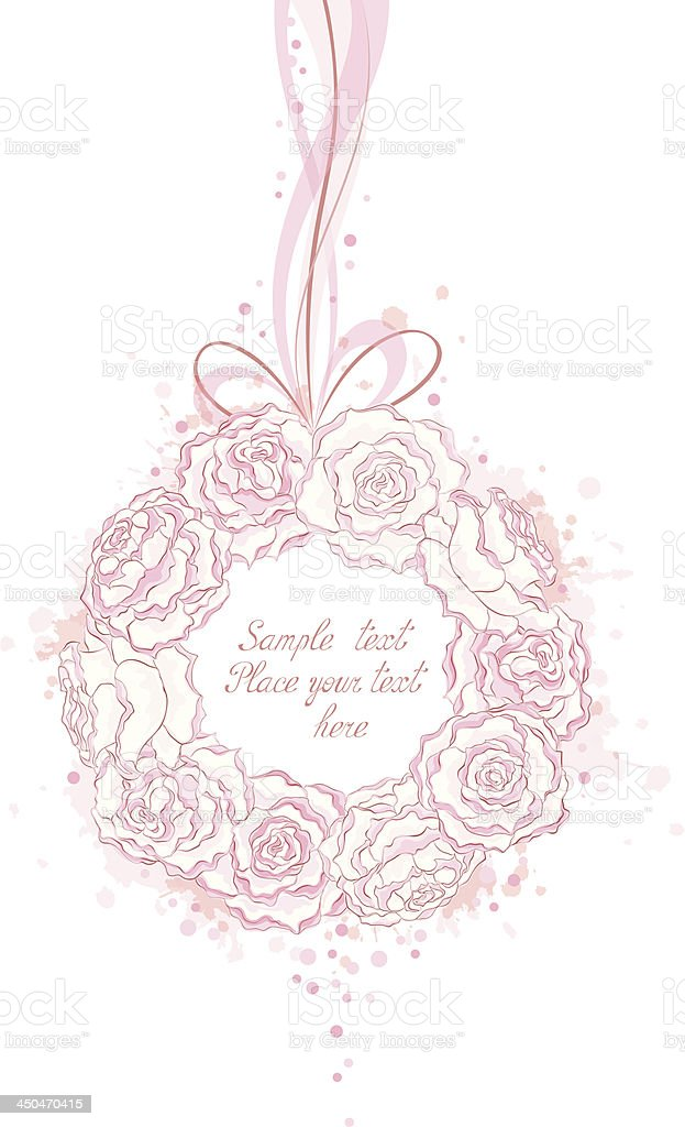Wedding decorative wreath royalty-free stock vector art