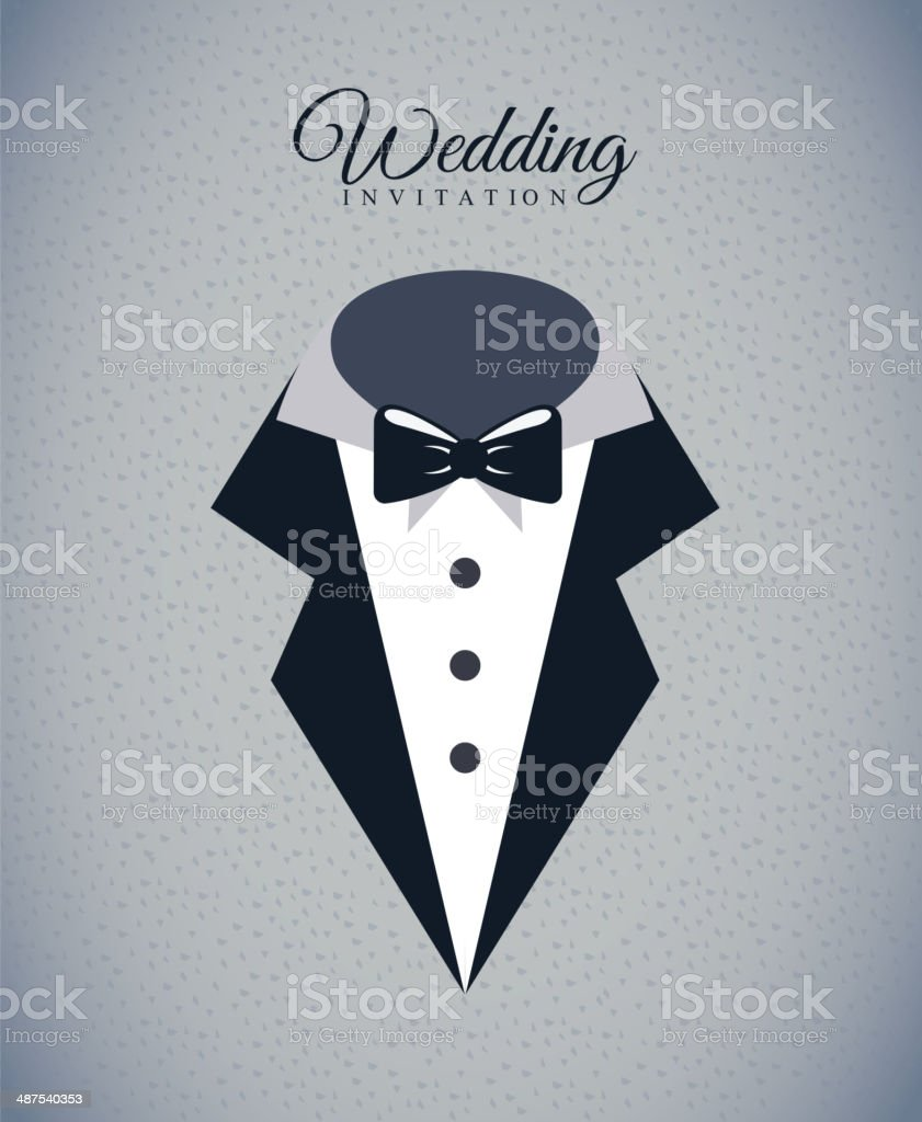 wedding design vector art illustration