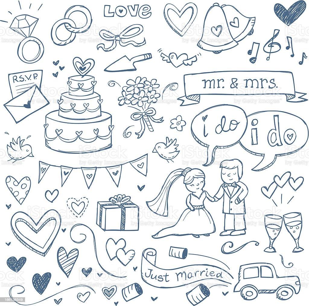 Wedding Doodles royalty-free stock vector art