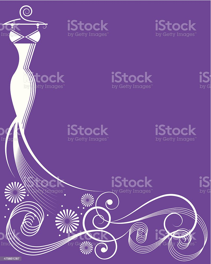 Wedding Dress Mortice C vector art illustration
