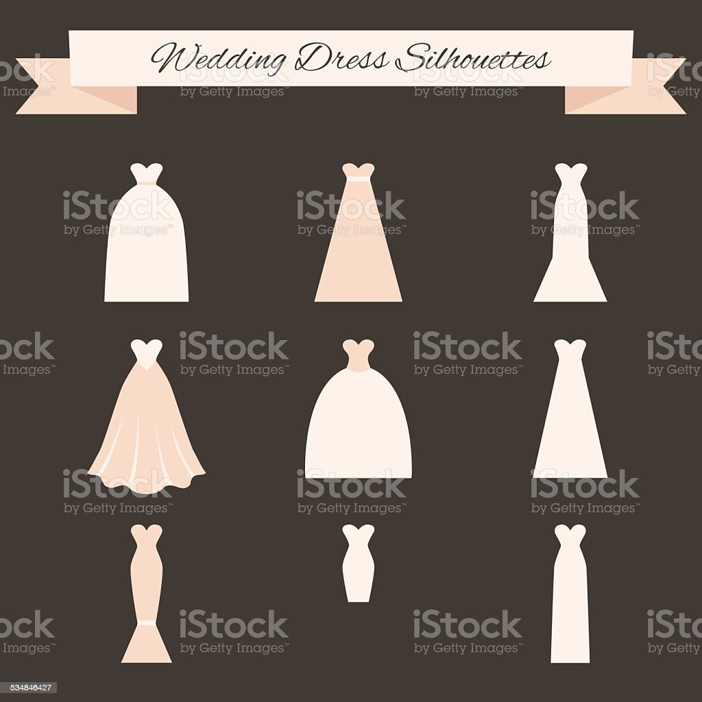 Wedding Dress Style vector art illustration