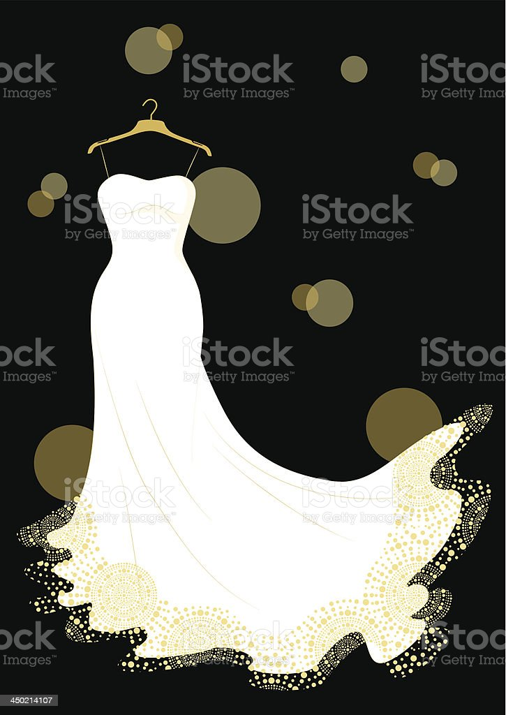 Wedding Dress vector art illustration