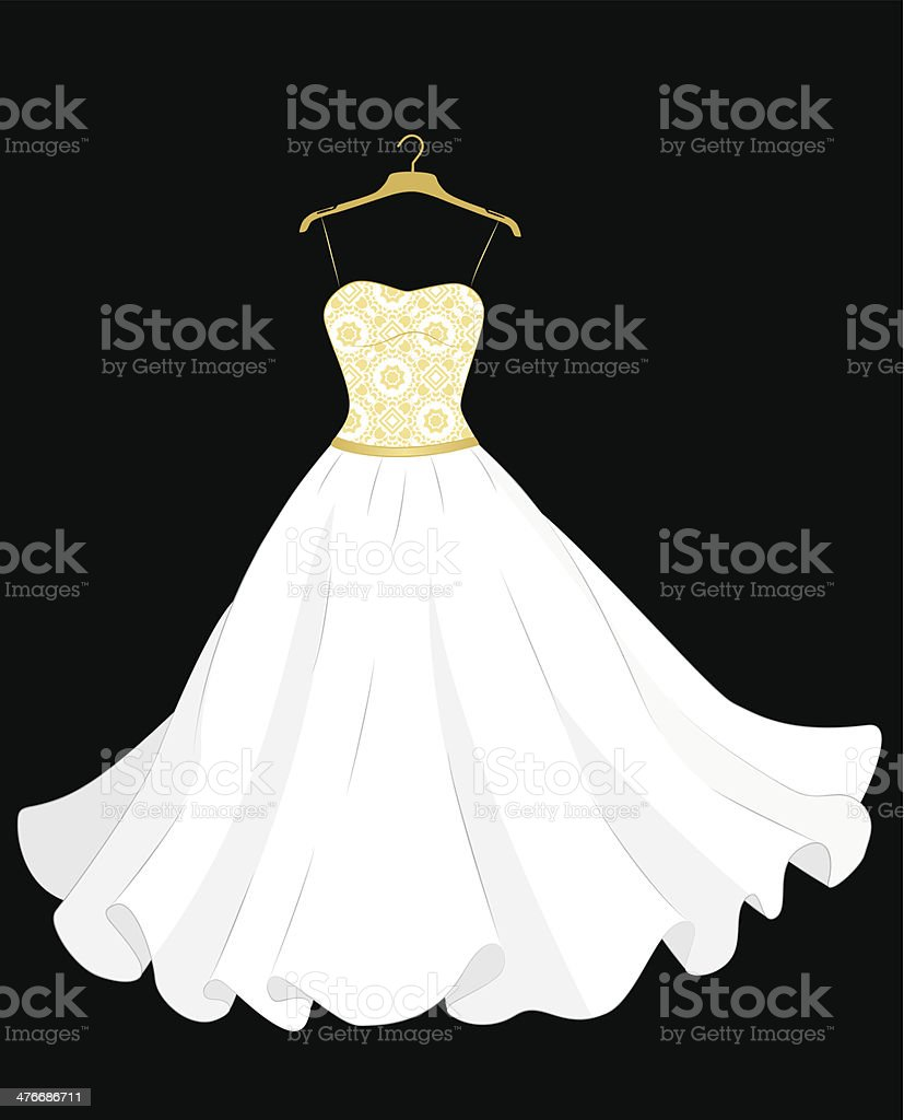 Wedding Dress royalty-free stock vector art