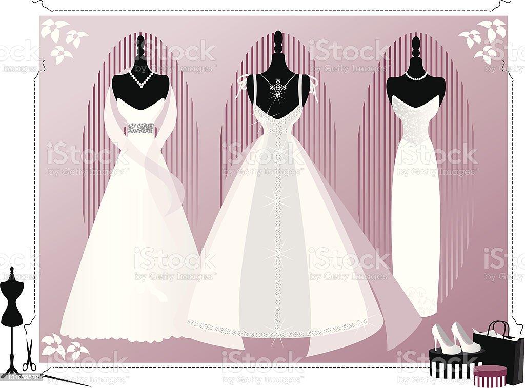 Wedding Dresses royalty-free stock vector art