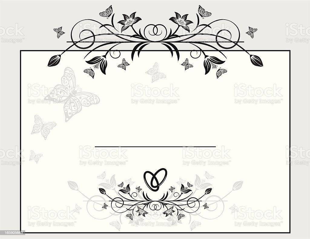 Wedding Element vector art illustration