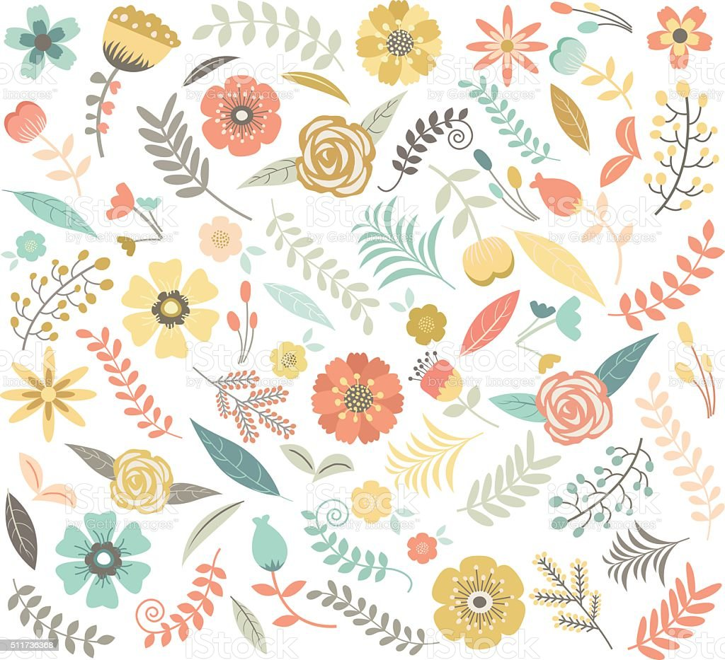 Wedding Floral Seamless Pattern vector art illustration
