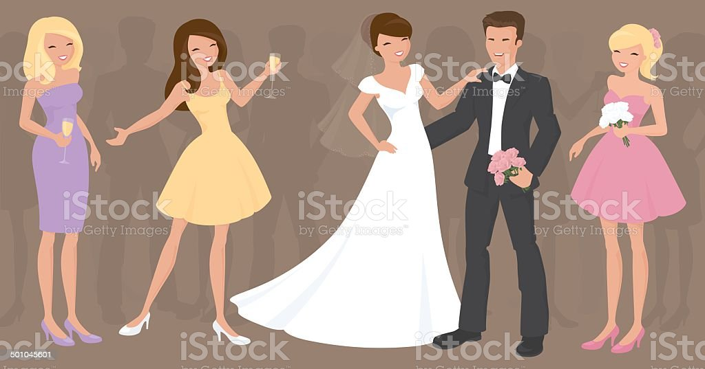 Wedding Fun vector art illustration