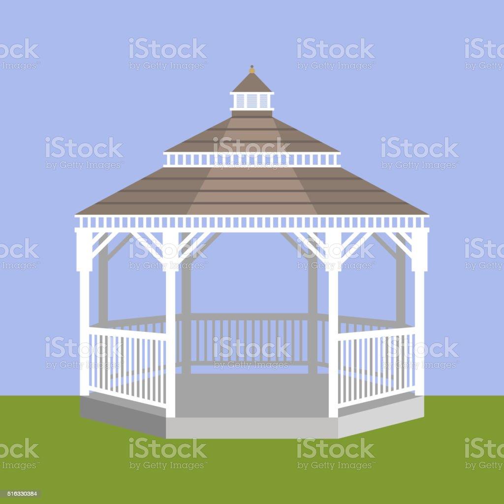 Wedding gazebo. Vector illustration vector art illustration