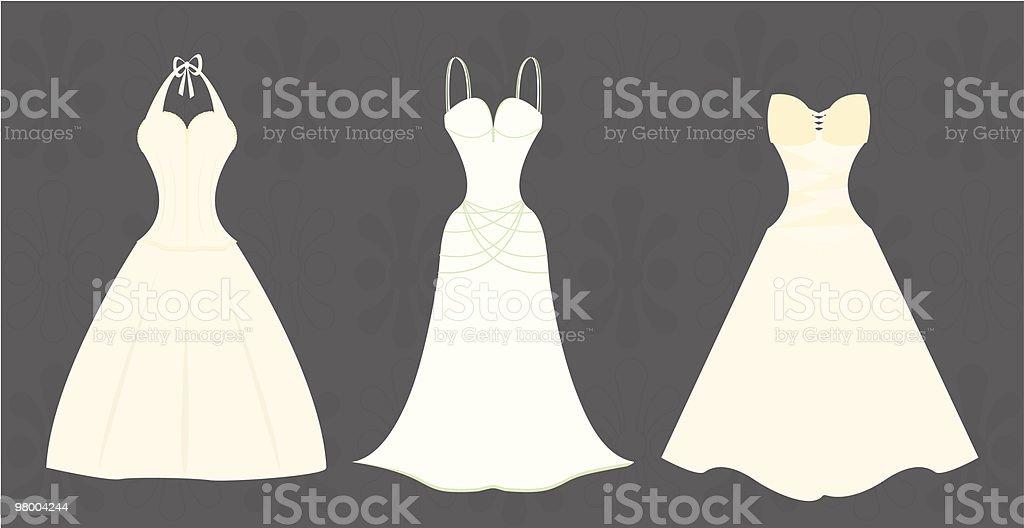 Wedding Gowns vector art illustration