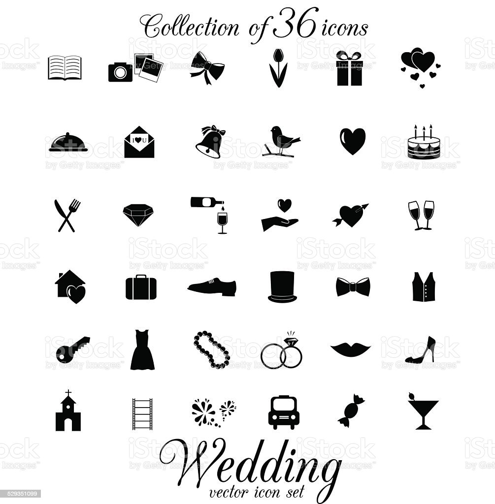 Wedding icon isolated on white background. vector art illustration