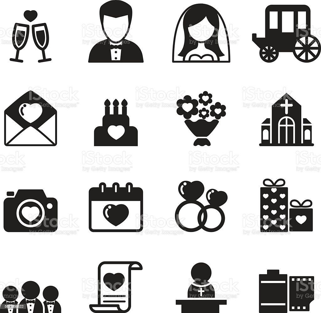Wedding icons set Vector illustration vector art illustration