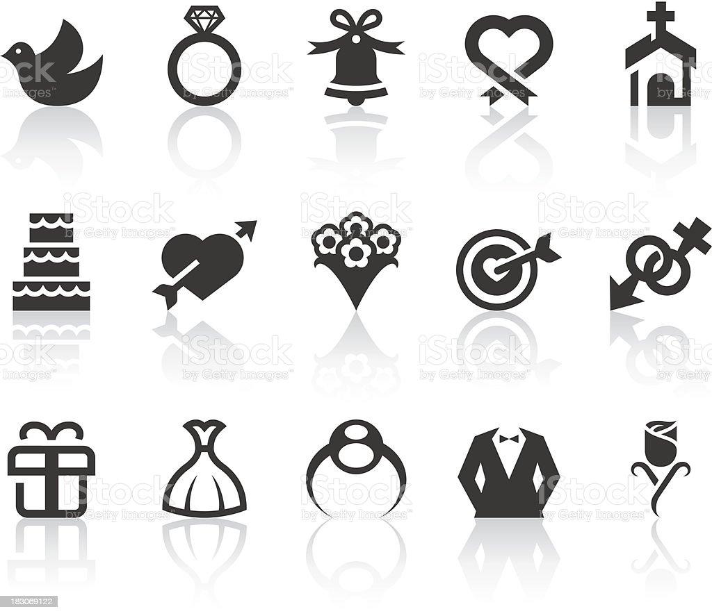 Wedding Icons | Simple Black Series vector art illustration