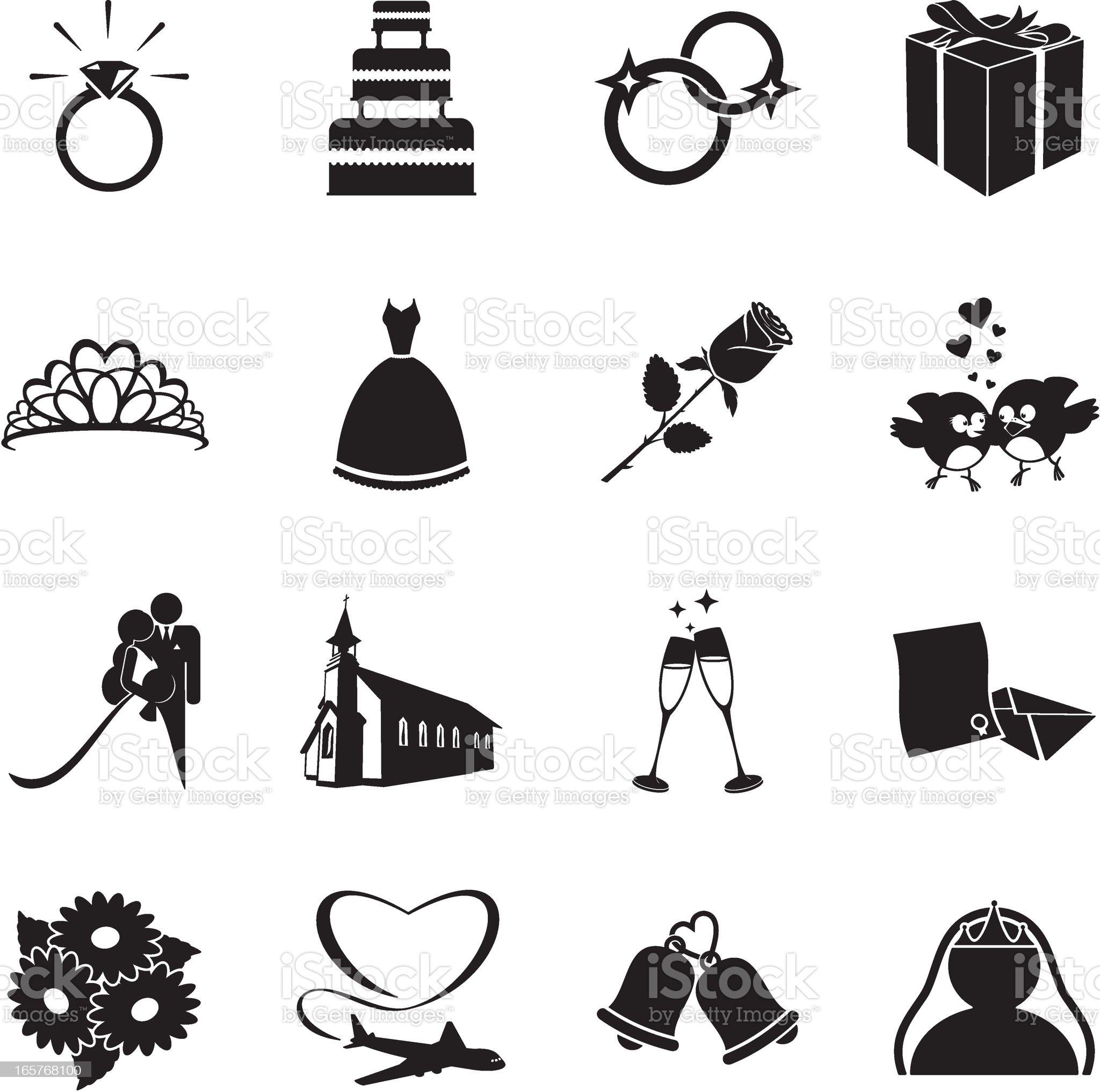 Wedding Icons royalty-free stock vector art