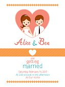 Wedding Invitation Card Template, Bride And Groom