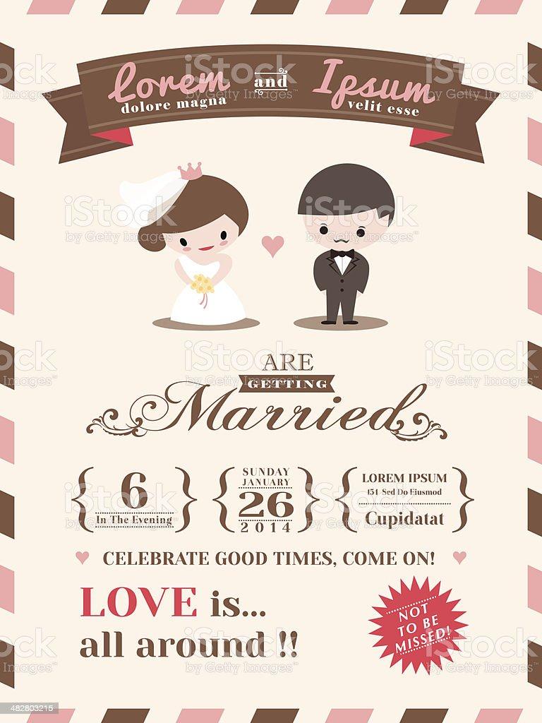 Wedding invitation card template royalty-free stock vector art