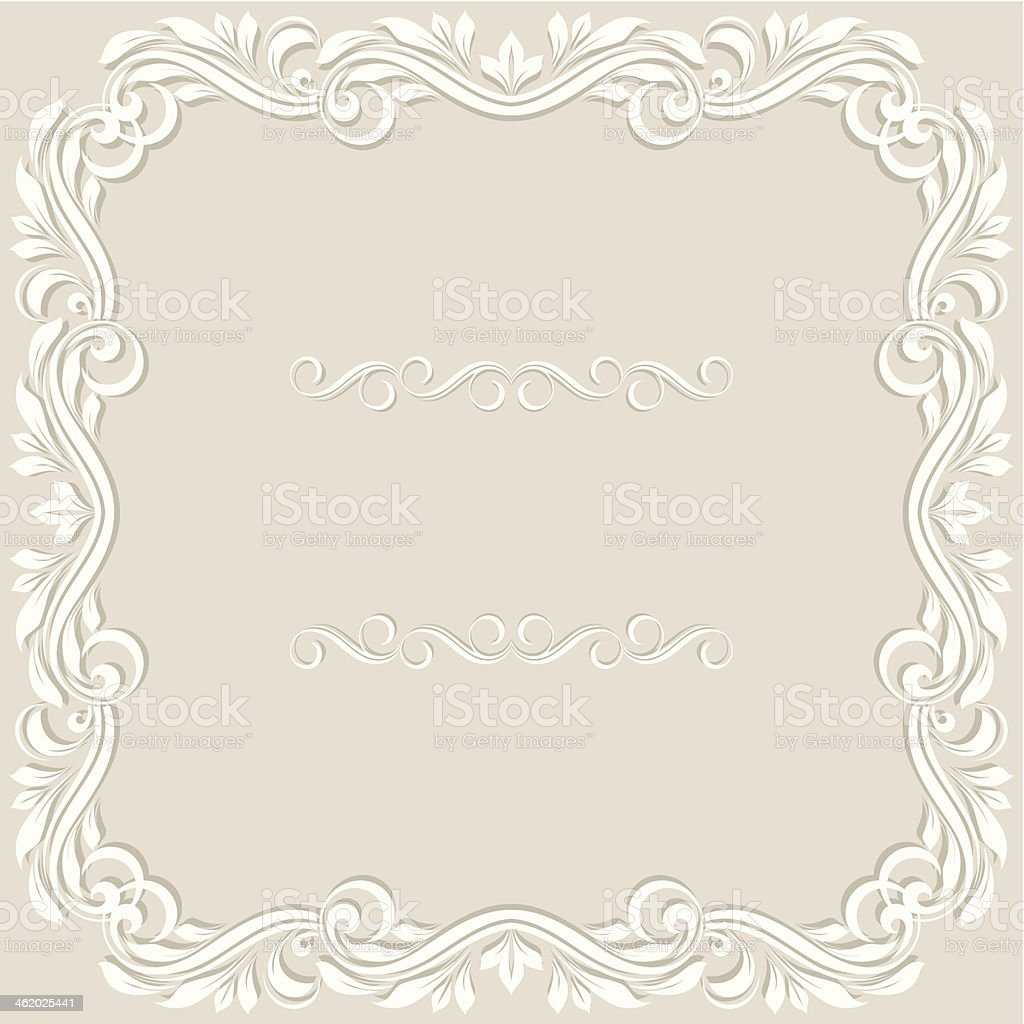 Wedding invitation card. royalty-free stock vector art