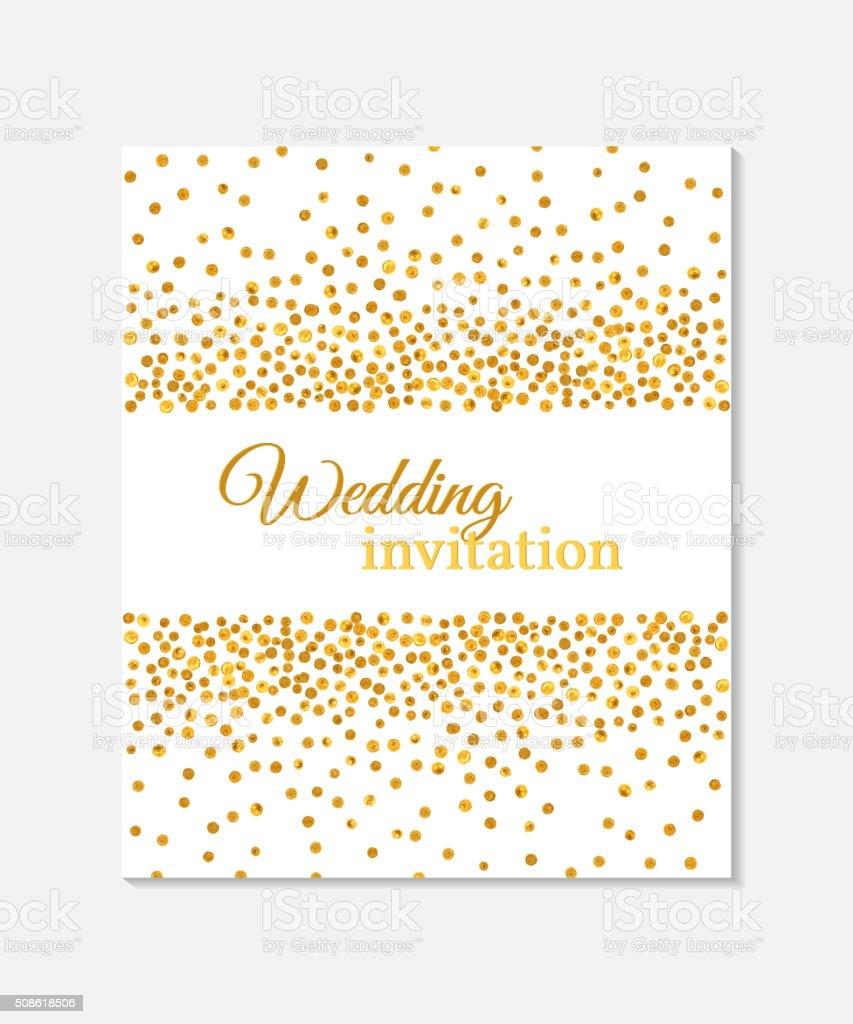 Wedding invitation card. vector art illustration