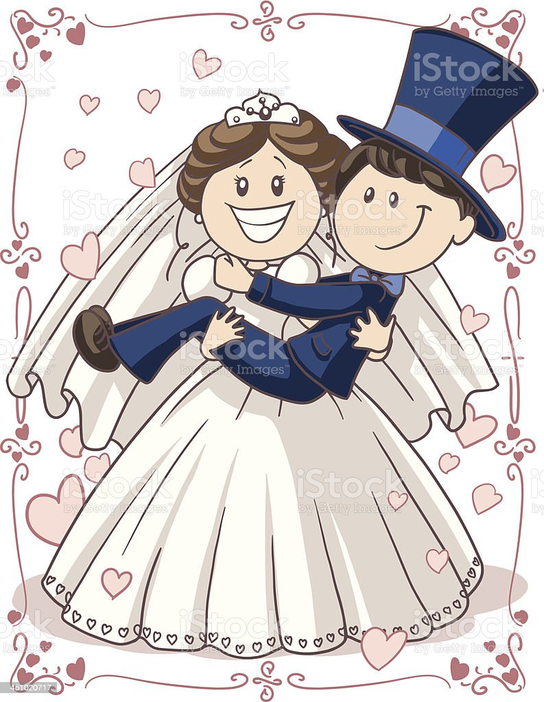Wedding Invitation Couple royalty-free stock vector art
