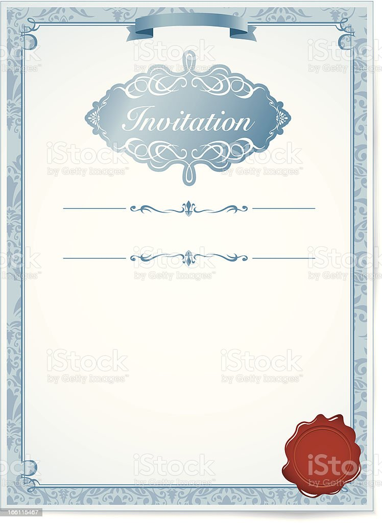 Wedding invitation Frame Vector royalty-free stock vector art