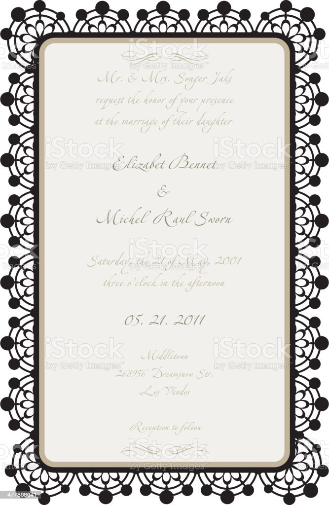 Wedding Invitation Template royalty-free stock vector art