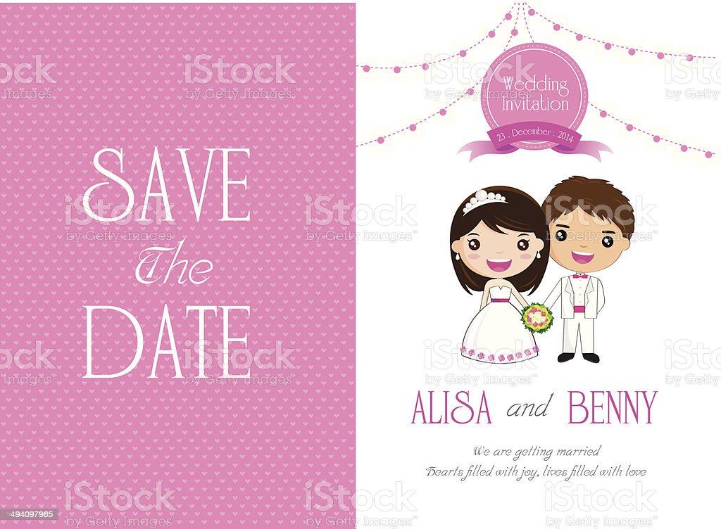 Wedding Invitation Template royalty-free stock vector art